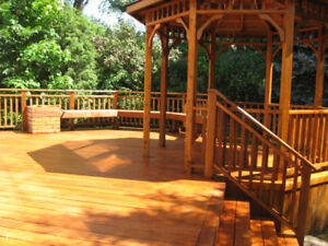 Cedarnew will make your outdoor wood beautiful again!