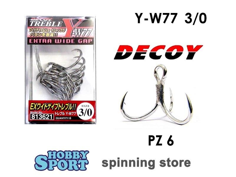 ANCORETTE DECOY  SERIE Y F33 B  SIZE  10  ROUND BEND CONF 8 PZ SPINNING TROTA