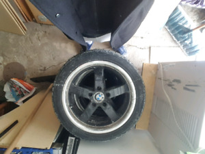 Bmw winter tires and mags 225/45r17 and a offset of et 35  17x8