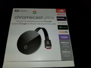 Google Chromecast Ultra 4K HDR - YouTube, NetFlix, Perfect Cond