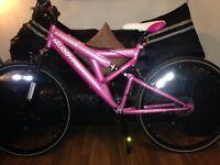 """Muddy fox pink 26"""" bike"""