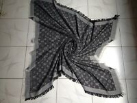 Louis Vuitton scarf (black, blue, grey brown )