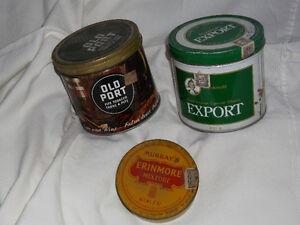 Tobacco tins Cornwall Ontario image 1