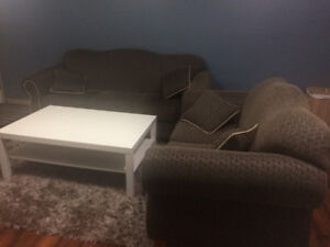 3+2 Seater Sofa Set and Matching Rug for sale