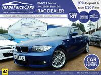 GUARANTEED CAR FINANCE BMW 1 Series 2.0 118d 120d M Sport Coupe
