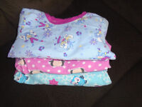 GIRL PAJAMAS Size 3, 100%COTTON 6$ ALL  ALL IN GREAT CONDITIONS.