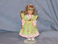 "EMMIE - 8"" PORCELAIN DOLL OF THE MONTH BY RUSS - MAY EMERALD"