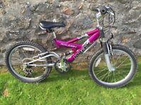 Girls 20 inch bike hardly used