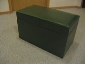 Storage chest-Green vinyl,doubles as a little seat