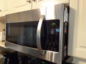 30 inch over the range microwave oven, stainless steel, smart