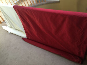 Gorgeous Red Silk Fabric & Backing for curtains/drapes/dresses