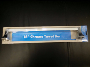 "18"" CHROME FINISH TOWEL BAR BY CSI DONNER"