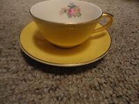 Vintage Bone China Tea Cup & Saucer (England)
