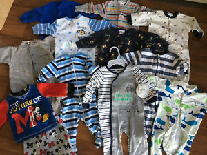 3-6 Month Baby Boy Sleepers