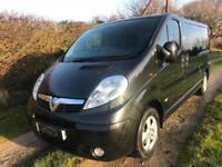 2012 62 VAUXHALL VIVARO SPORTIVE LWB CREW CAB VAN 6 SEATS 2900 BLACK NO VAT