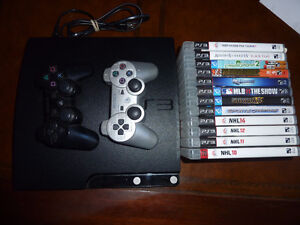 Immaculate 120GB Slim PS3, 2 Controllers, 12 Games