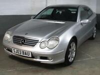 May 2003 03 MERCEDES-BENZ C180 KOMPRESSOR 1.8 AUTO 143 BHP SE COUPE 3 Door 89k