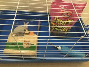 SMALL ANIMAL / RABBIT CAGE + ACCESSORIES.