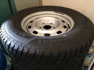 P265/70R17 Winter Tires On Steel Rims - Fits Dodge Ram and more!