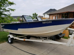 16 FT ALUMINUM DEEP V LIVE WELL READY TO FISH