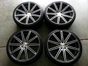 """Vossen 22"""" avec pneus 2 x 265 av et 2 x 295 ar 9/32"""""""
