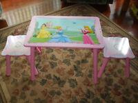Table et bancs Princesses