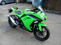 2013 KAWASAKI EX 300 ADF NINJA, 296CC SPORTS BIKE, (39 BHP) SIX SPEED MANUAL