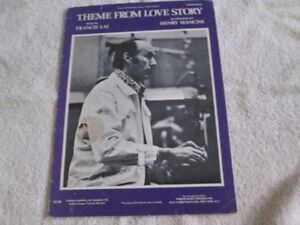 Vintage Piano Sheet Music - Theme From Love Story - 1971
