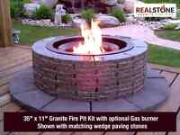 Granite Fire Pits with Gas burners