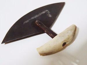 1940s ESKIMO INUIT tiny ULU blade Woman's skinning cutting BONE Cambridge Kitchener Area image 4