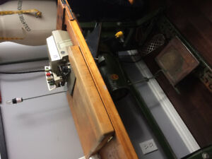 Industrial straight stitch sewing and overloc serger machine