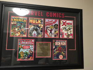 Marvel & DC Comics First Editions Professionally Framed Art