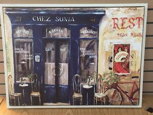 Magnifique cadre '' Bistrot Chez Sonia '' Style Parisien