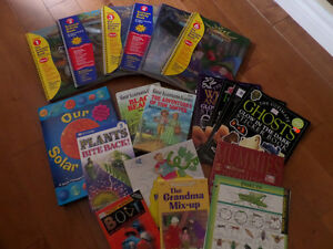 A bunch of great children's books and summer educational books