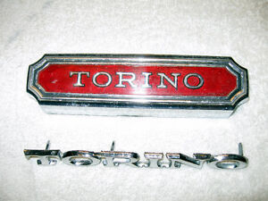 1974 1975 1976 Ford Torino gas cap and fender emblem