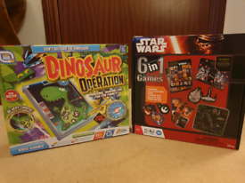 6 Starwars Games and Dinosaur Operation. Never used