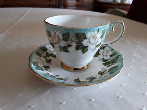 FINE BONE CHINA CUP AND SAUCER - MONTROSE, GLADSTONE