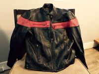 Barely Used Leather Motorcycle Jacket