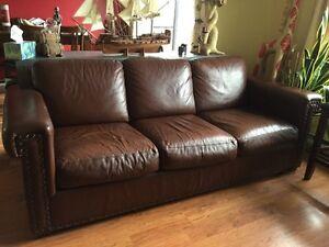 Sofa divan 100% cuir
