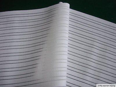Gummiband Bandage Stützgürtel Meterware weiß 25cm breit V61