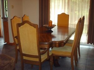 Oak Dining Set with China cabinet and hutch.