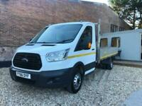 2016 Ford Transit 2.2 TDCi 125ps 350 RWD Chassis Cab EURO 6 ULEZ FREE Diesel Whi