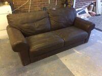 Free brown leather sofa