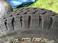 4 winter snow tires and rims P235/70/R16