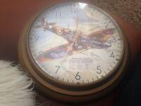 Brilliant Spitfire wall clock