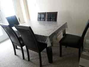 Dinning table with six chairs Kitchener / Waterloo Kitchener Area image 5