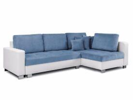 Corner Sofa Bed OSLO Blue