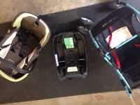 Car seat 2 bases and stroller