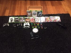 Xbox 360s 250g + Kinect with all games and accessories shown