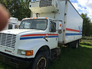 1991 International Diesel Cube with Reefer and Power Tailgate
